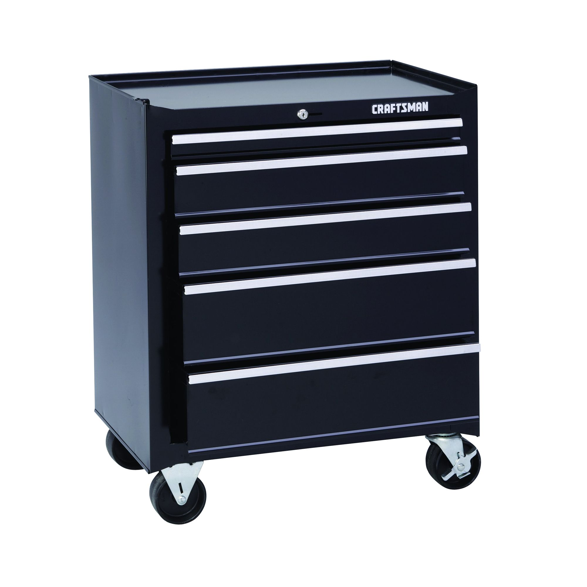 "Craftsman 26"""" Wide 5-Drawer Basic Bottom Chest - Black"