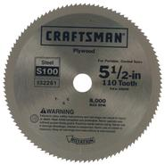 Craftsman 5-1/2 in. Steel Blade for Portable, Corded Saws - 110T at Craftsman.com