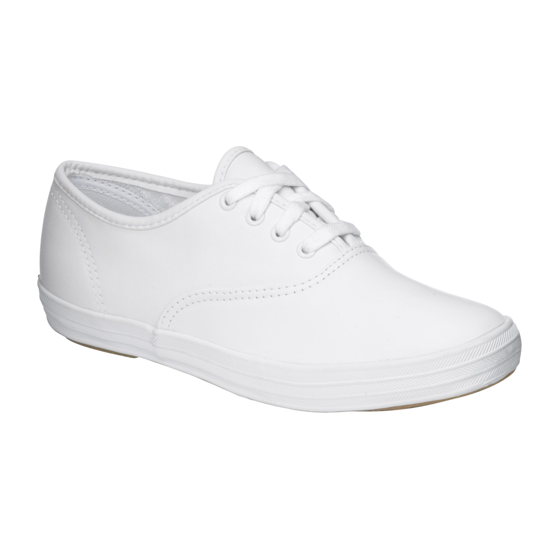 White Leather Slip On Shoes Womens