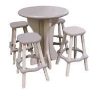 Leisure Accents 5-piece Bistro Table and Bar Stools - Gray at Sears.com