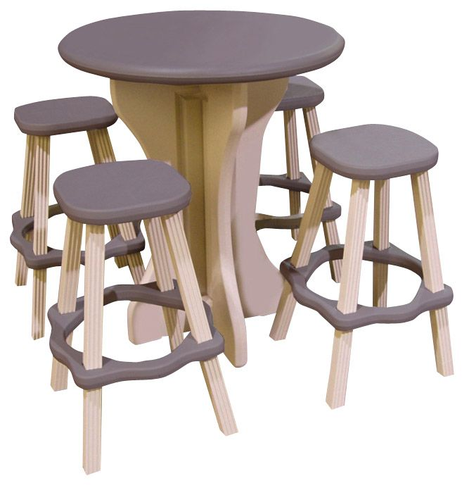 5-piece Bistro Table and Bar Stools - Portabello                                                                                 at mygofer.com