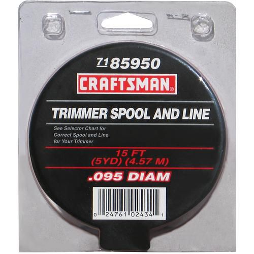 Craftsman  .095'' Replacement Spool Trimmer Line