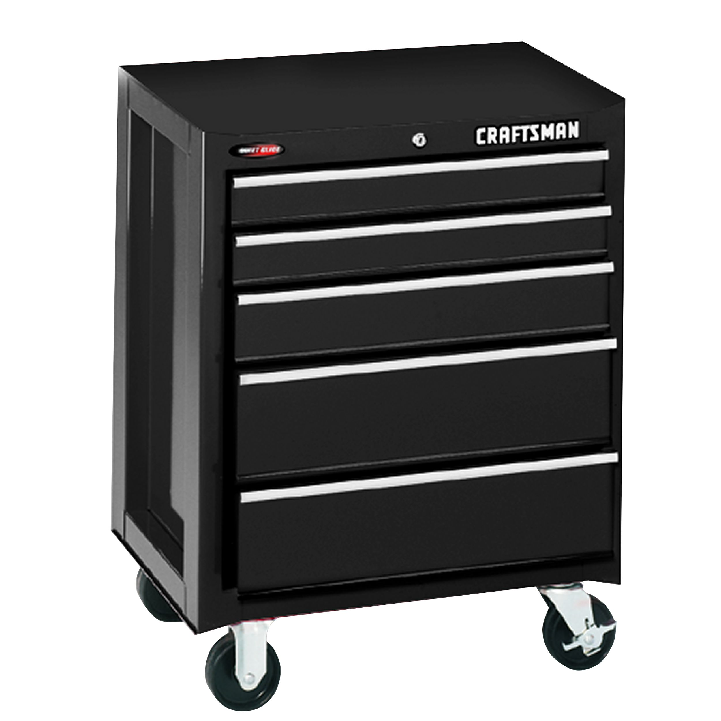 "Craftsman 26"""" Wide 5-Drawer Quiet Glide Bottom Chest - Black"