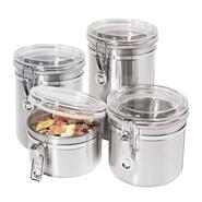 Oggi 4 pc. 18/8 Stainless Steel Canister Set at Kmart.com