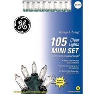 GE String-A-Long™ 105 Mini Lights Set, Clear at Kmart.com