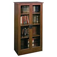 Dorel Heirloom Cherry Glass Door Bookcase at Kmart.com