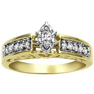 1/4ct tw Marquise with Round Diamond Accents 1-piece Bridal Ring 10K at Sears.com