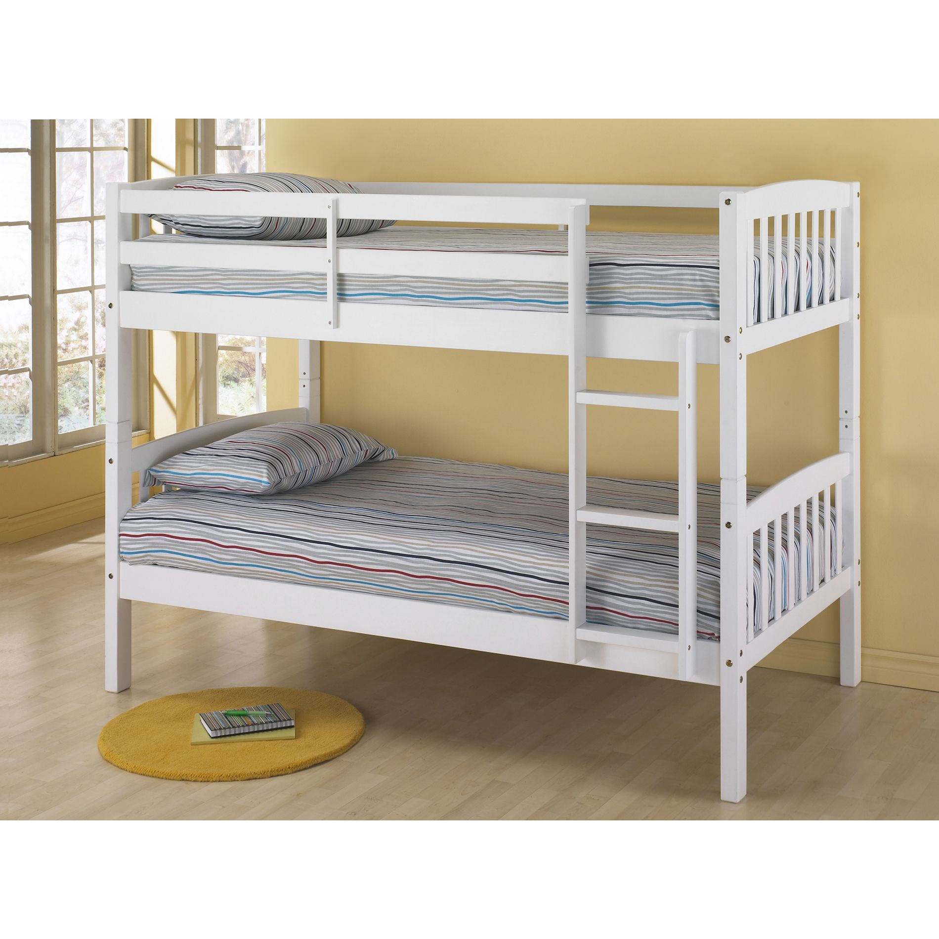 White Belmont Twin Size Bunk Bed
