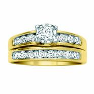 3/4 cttw Round Diamond Channel Bridal Set, 10K at Kmart.com