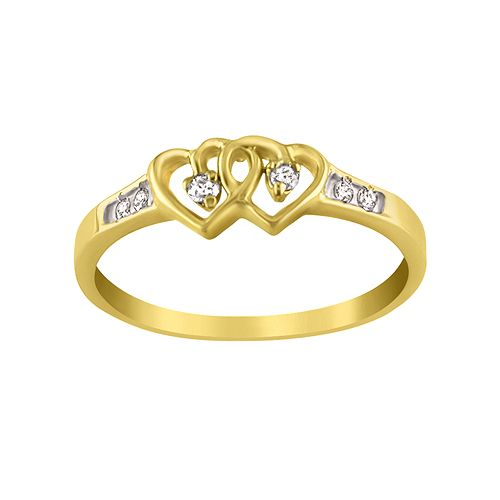 1/1²ct tw Double Heart with Diamond