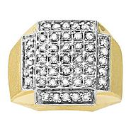 1ct tw Diamond Mens Square Ring 10K at Kmart.com
