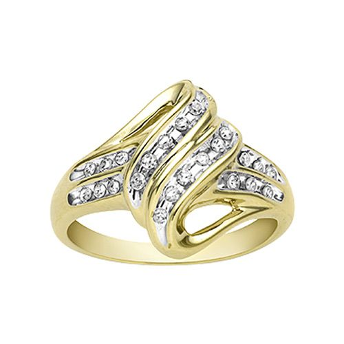 1/4 cttw Channel-Set Diamond Ring