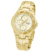 Armitron Mens Multi-Function Goldtone Watch w/Champagne Dial & Stainless Steel Band at Kmart.com