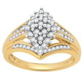 1/2 cttw Diamond Cluster Ring at mygofer.com