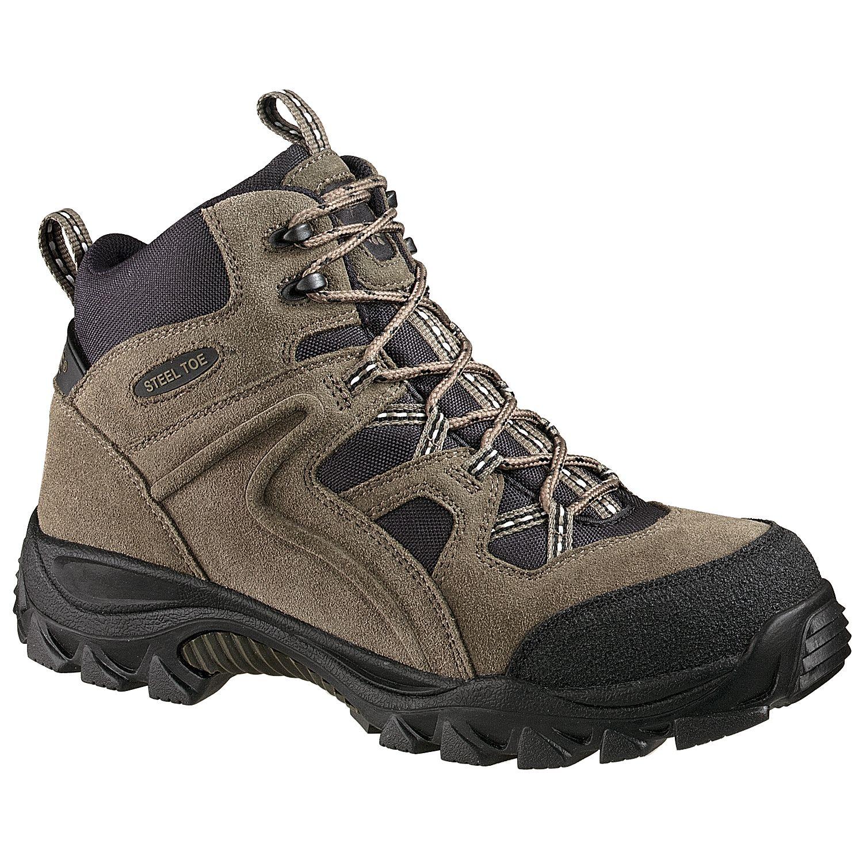 Men's Brighton Gray Steel Toe Safety Hiker Boot