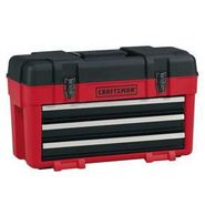 Craftsman 3-Drawer Plastic/Metal Portable Chest - Red/Black at Craftsman.com