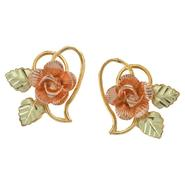 Black Hills Gold Tricolor 10K Gold Dakota Rose Earrings at Kmart.com