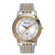 Bulova Mens Calendar Date Watch with Silver Dial & Link Band. Goldtone and Silvertone at Sears.com