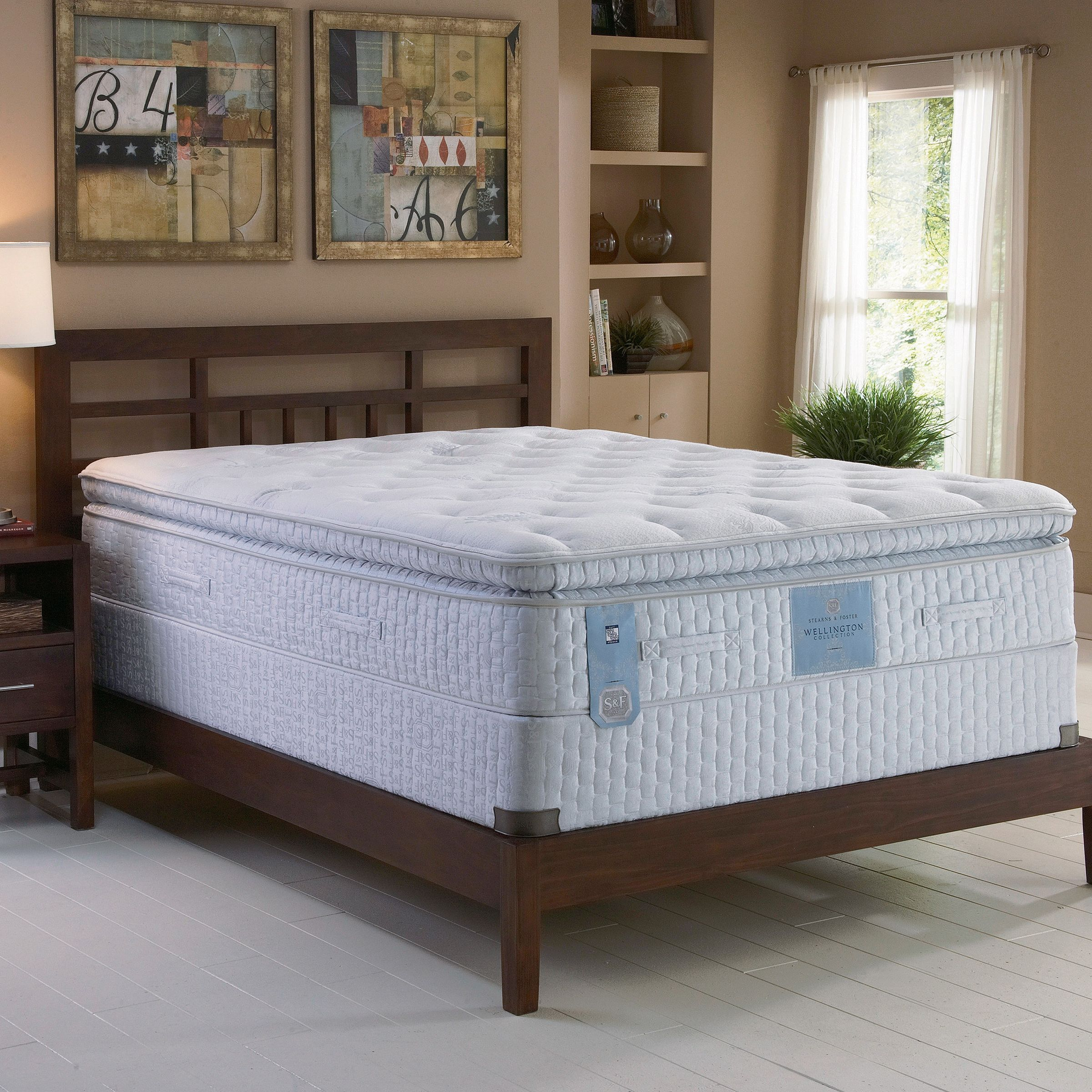 Stearns & Foster Delinda Plush Euro Pillowtop West Coast King Mattress ONLY