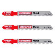 Craftsman 3 in. Jigsaw Blades, Thick Metal, 14 TPI, 3 pk. at Sears.com
