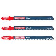 Craftsman 4 in. Jigsaw Blades, Wood, 8 TPI, 3 pk. at Craftsman.com
