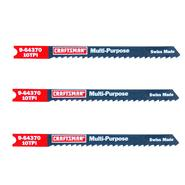Craftsman 4 in. Jigsaw Blades, All Purpose, 10 TPI, 3 pk. at Sears.com