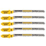 Craftsman Professional 3 in. 18TPI Bimetal Jigsaw Blades, 5 pk. at Sears.com