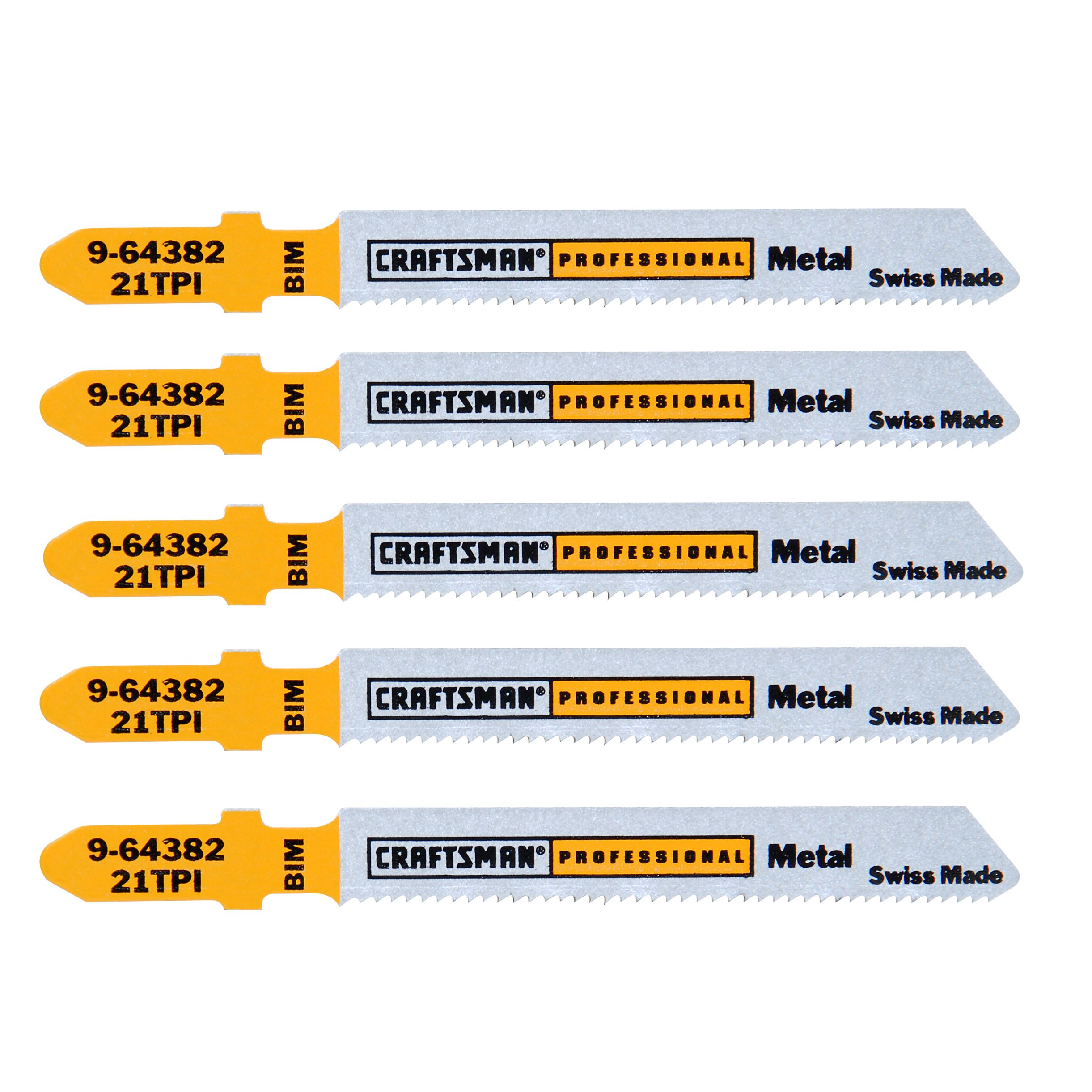 3 in. Bimetal Jigsaw Blades, Thick Metal, 24 TPI, 5 pk.