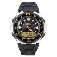 Casio Wave Ceptor Atomic Calendar Day Watch with Black Dial and Resin Band at Kmart.com