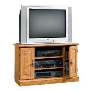 "Sauder 22.6""H x 35.1""W x 22.8""D Corner Entertainment 2 Door Open Storage"