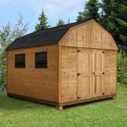 Quality Outdoor Structures C1012SB Cedar Barn (10 ft. x 12 ft.) - Professional Installation Included at Kmart.com