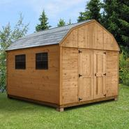 Quality Outdoor Structures C1216SB Cedar Barn (12 ft. x 16 ft.) - Professional Installation Included at Kmart.com