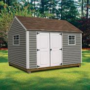 Quality Outdoor Structures V0812S Vinyl Cottage (8 ft. x 12 ft.) - Professional Installation Included at Sears.com