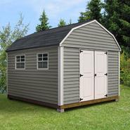 Quality Outdoor Structures V1012SB Vinyl Barn (10 ft. x 12 ft.) - Professional Installation Included at Kmart.com