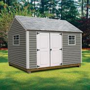 Quality Outdoor Structures V1216SC Vinyl Cottage (12 ft. x 16 ft.) - Professional Installation Included at Kmart.com