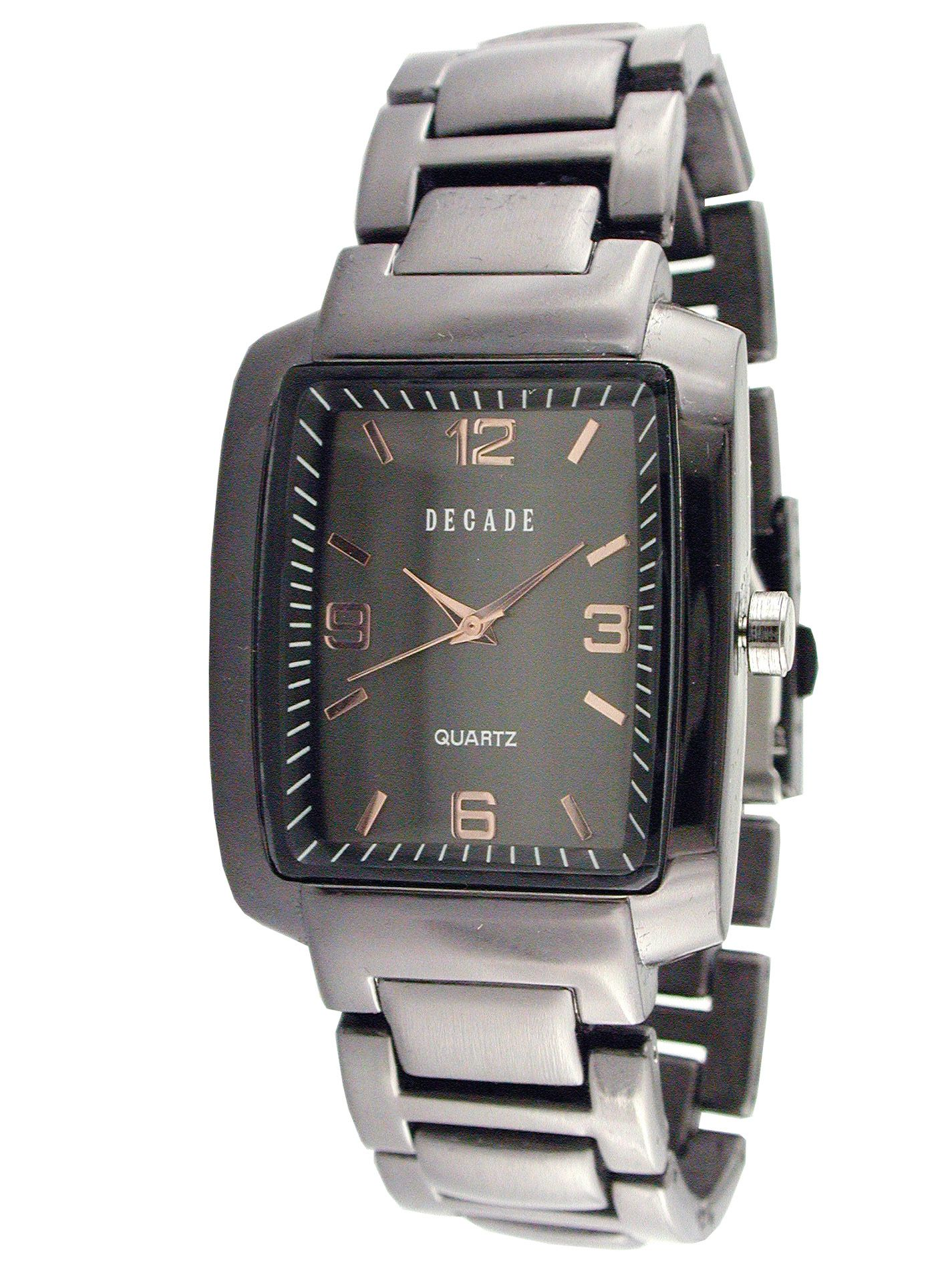 Decade  Mens Dress Watch with Black