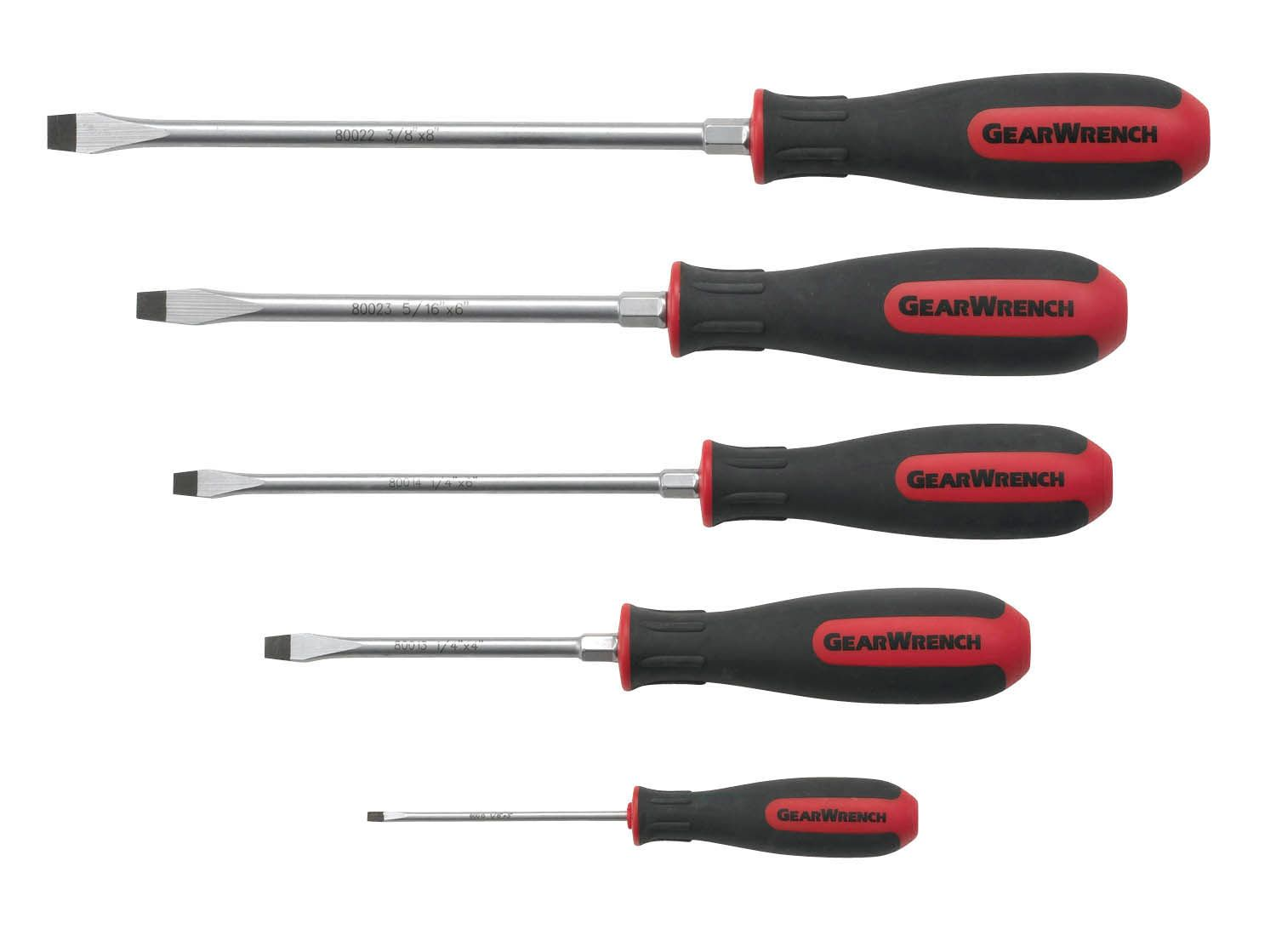 5 Pc Slotted Screwdriver Set