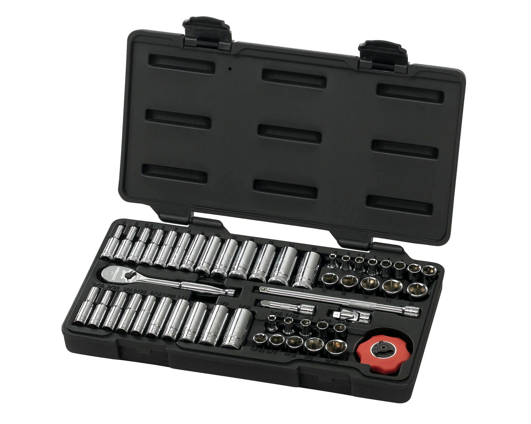 51 Pc. 6 Pt. SAE/Metric Socket Set 1/4