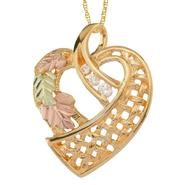 Black Hills Gold Tricolor 10K Diamond Accent Heart Pendant at Kmart.com