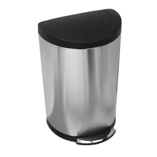 simplehuman 40 Liter Semi-Round Step Can, Brushed Stainless Steel