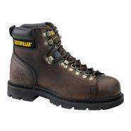 "Cat Footwear Men's Work Boots Pipeline Steel Toe Leather 6"" Brown P89106 Wide Avail at Sears.com"