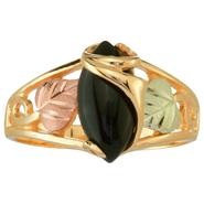 Black Hills Gold Tricolor 10K Gold Ladies' Onyx Wrap Ring at Kmart.com