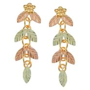 Black Hills Gold Tricolor 10K Leaf Drop Earrings at Kmart.com