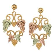Black Hills Gold Tricolor 10K Leaf and Vine Earrings at Kmart.com