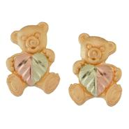 Black Hills Gold Tricolor 10K Petite Teddy Bear Earrings at Kmart.com