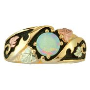Black Hills Gold Tricolor 10K Gold Ladies' Antiqued Opal Ring at Kmart.com