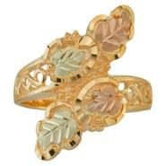 Black Hills Gold Tricolor 10K Gold Ladies' Bypass Ring at Kmart.com