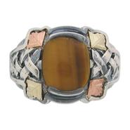 Black Hills Gold Tricolor Sterling Silver Men's Tiger Eye Ring at Kmart.com