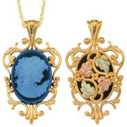 Black Hills Gold Tricolor 10K Lady Cameo Pendant at Kmart.com