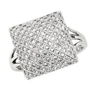 3/4 cttw Diamond Screen Ring. 10K White Gold at Sears.com